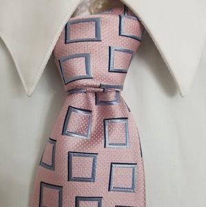 Ermenegildo zegna pink square silk tie